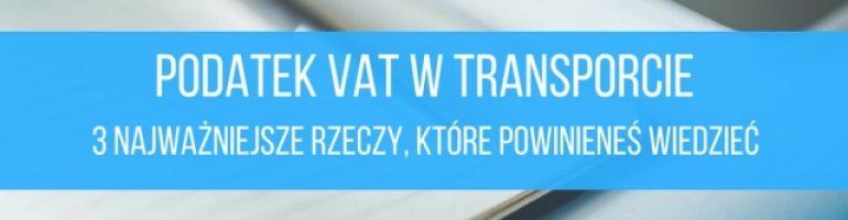 Podatek VAT w transporcie