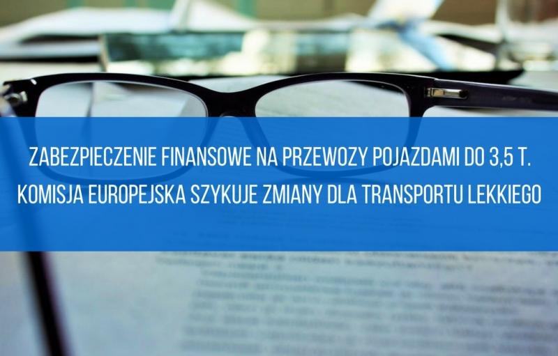 Zabezpieczenie finansowe na przewozy pojazdami do 3,5 t.